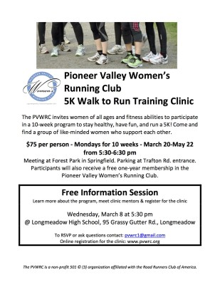 Walk to Run Clinic flyer