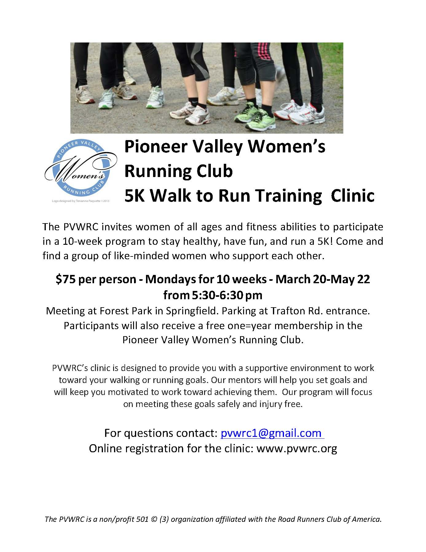 Walk to Run Clinic flyer